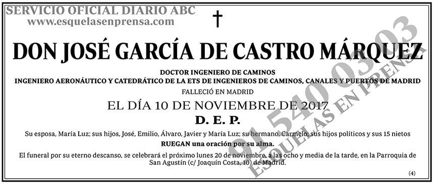 José García de Castro Márquez